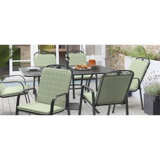 Kettler Siena 6 Seat Set with 3m Sage Parasol (Base not included)