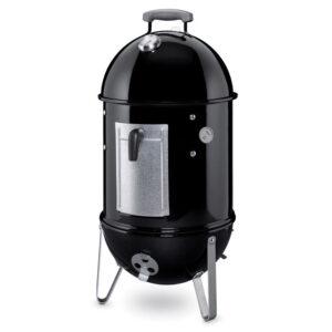 Weber Smokey Mountain Cooker Smoker 37cm (Black) + FREE Cover