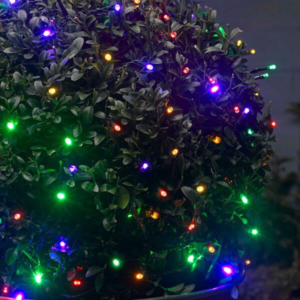 smart solar 50 Multi Coloured LED String Lights Night Lifestyle