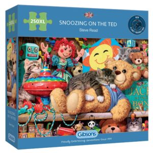 Gibsons Snoozing on the Ted 250 Extra Large Piece Jigsaw Puzzle