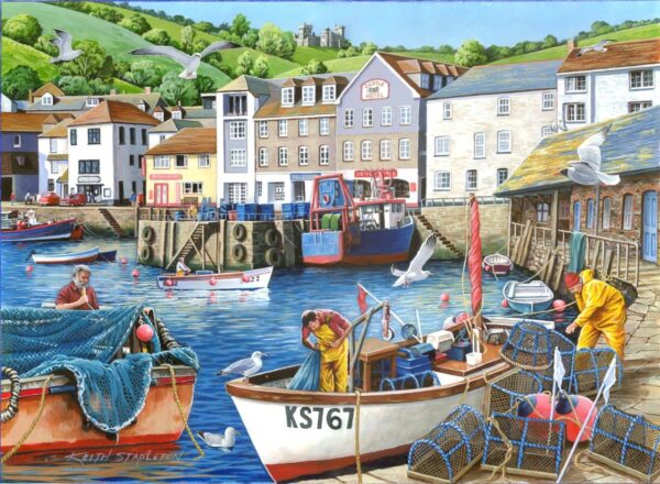 House of puzzles find the differences no 12 busy harbour jigsaw puzzle