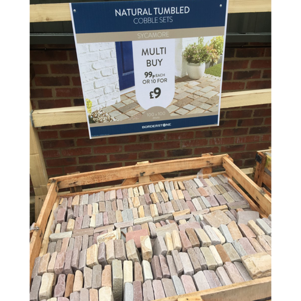 Selection of 100mm x 100mm Natural Tumbled Cobble Sets