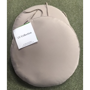 Glencrest Bistro Round Cushion Pads in Taupe (2 Pack)