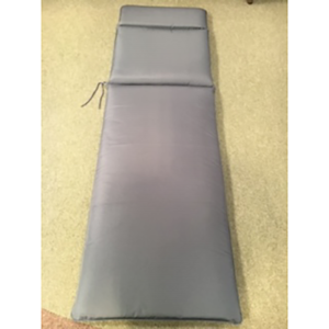 Glencrest Lounger Seat Cushion Pad in Grey