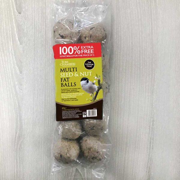 10 Pack Tom Chambers Multi Seed & Nut Fat Balls