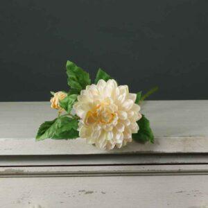 Cream Tintagel Dahlia Spray (67cm)