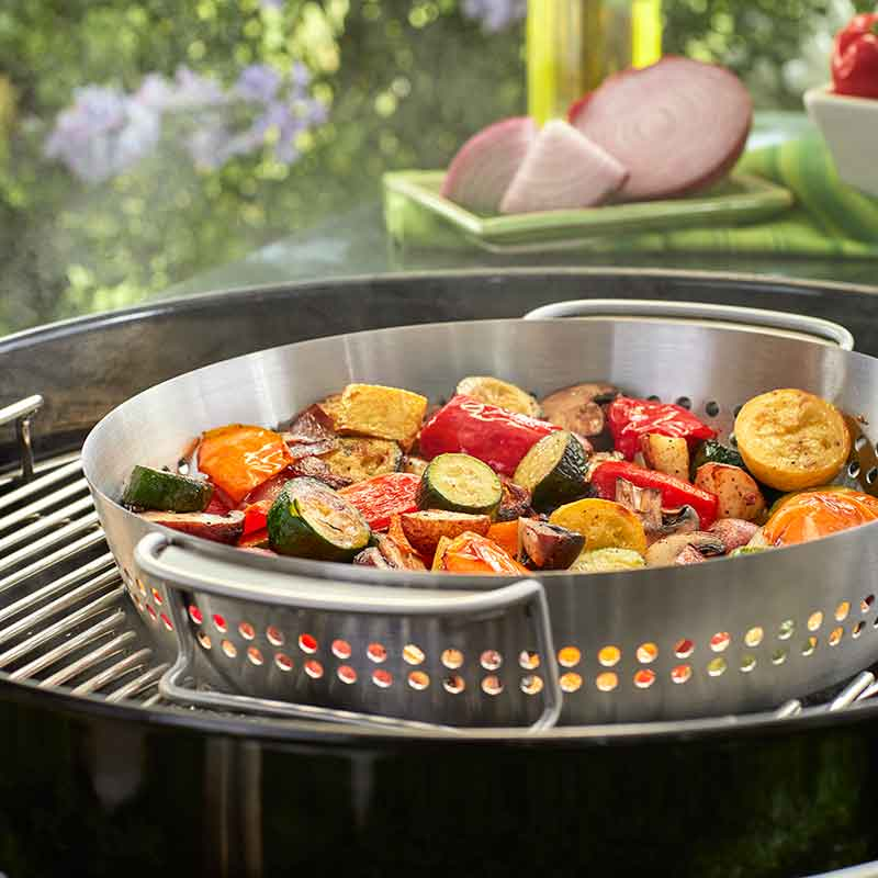 Turn the Weber GBS poultry roaster into a vegetable roaster