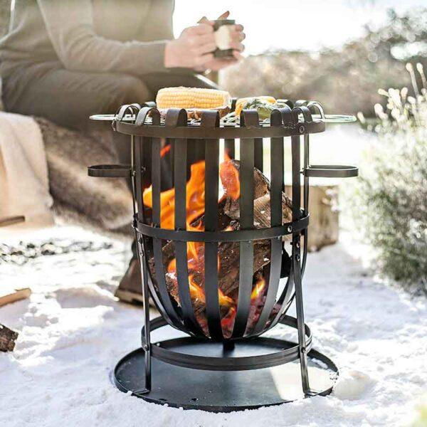 Use La Hacienda Vancouver Firebasket in winter