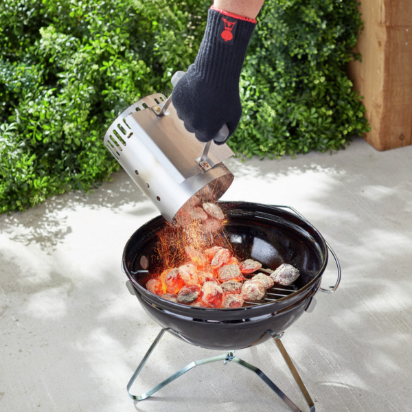 Using the Weber Barbecue Rapidfire Chimney Starter for smaller charcoal barbecues