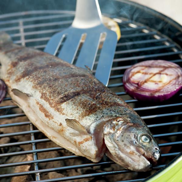 Use the Weber Barbecue Premium Spatula to move delicate fish