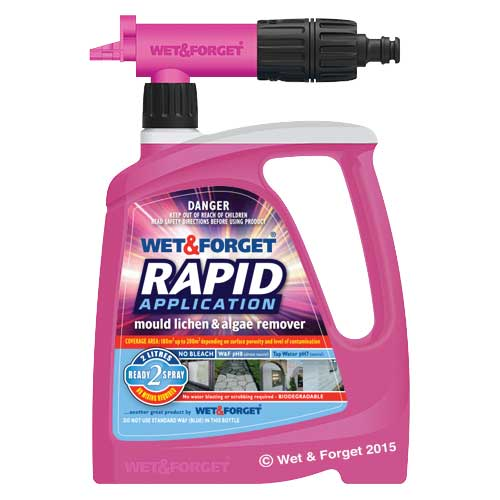 Wet & Forget Rapid 2 Litre Bottle with Sniper Nozzle