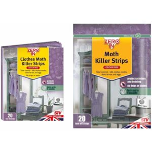 Zero In Clothes Moth Killer Strips